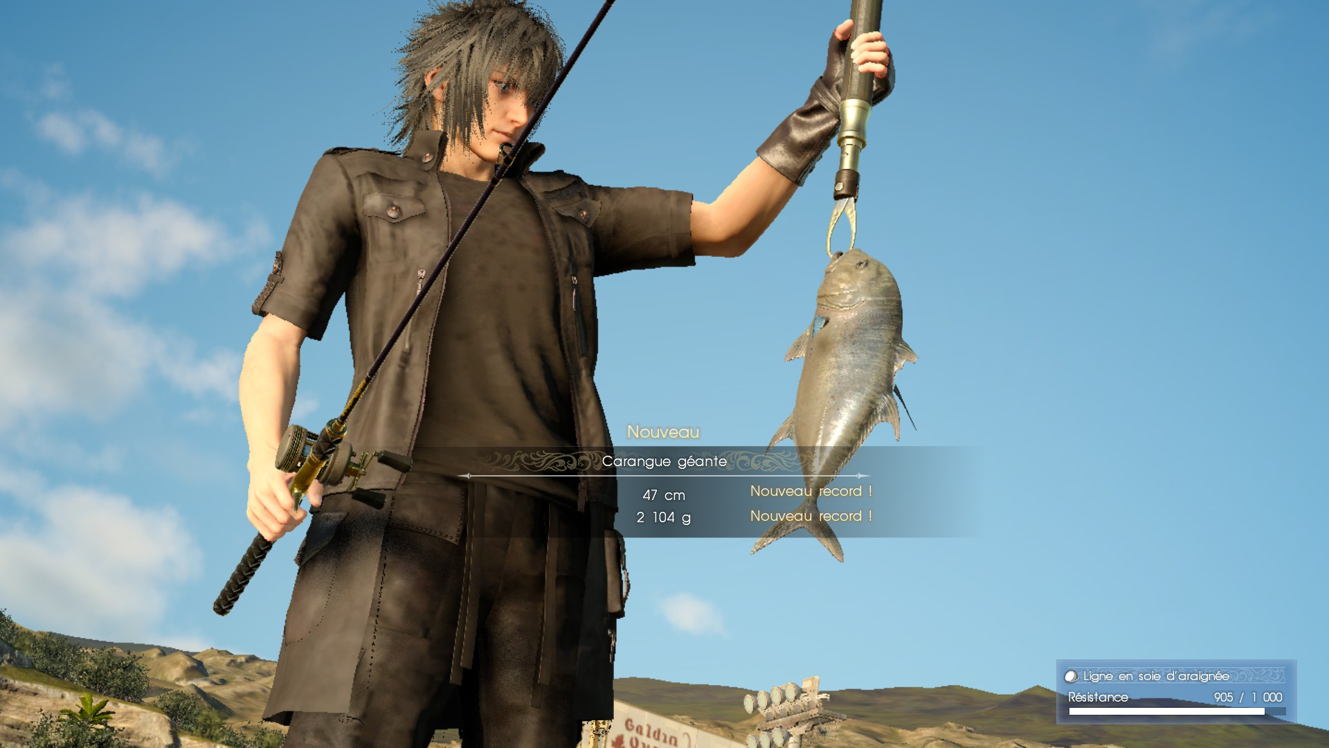 Final Fantasy XV fishing time