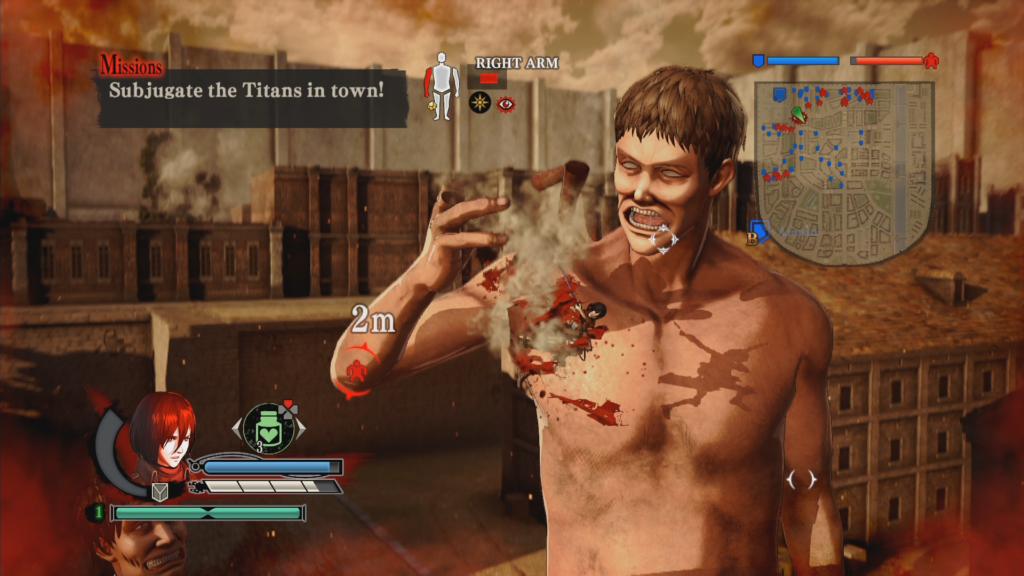 Attack on Titan2 : ll faut parfois affaiblir les titans.