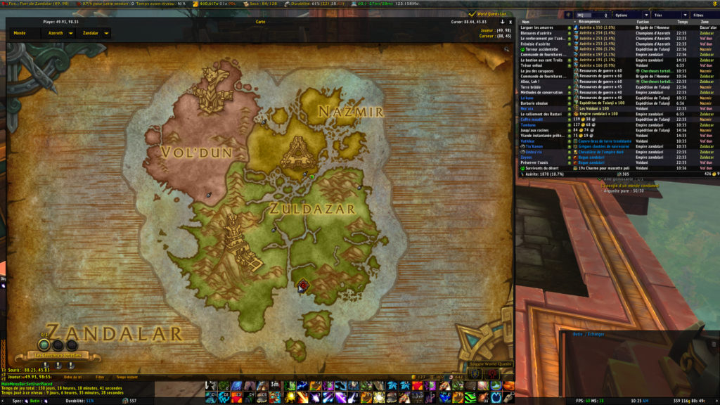 World of Warcraft : Battle for Azeroth map