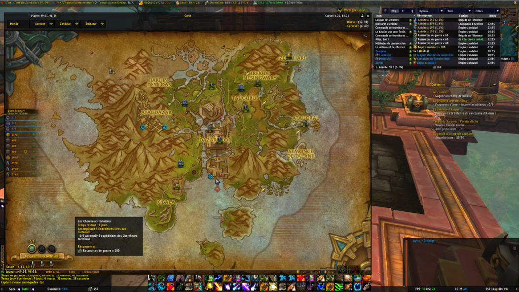World of Warcraft : Battle for Azeroth map 2